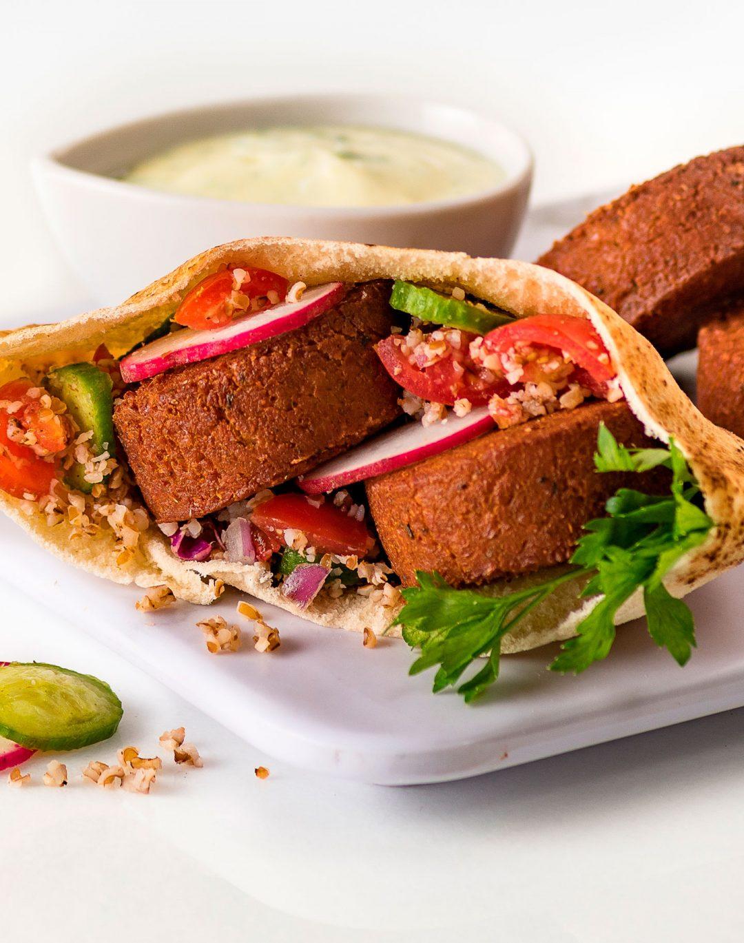 sanduíche de falafel